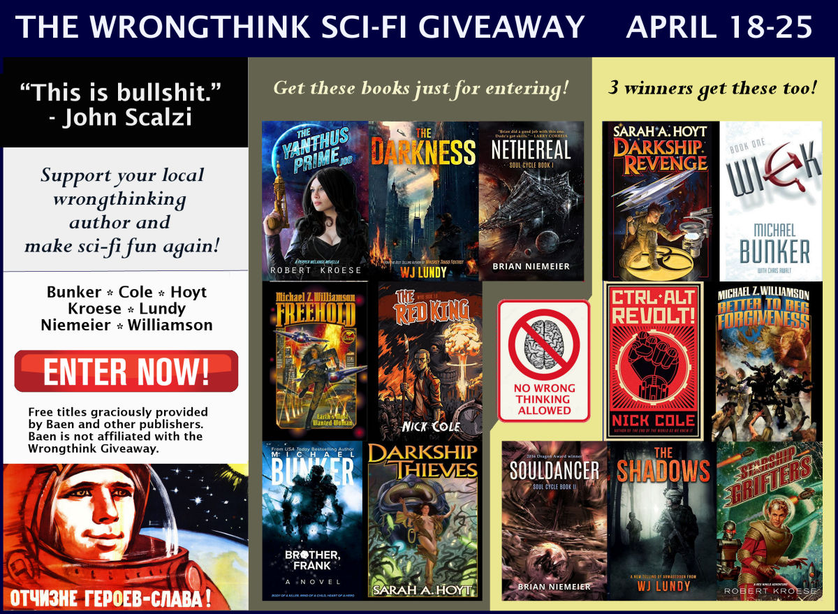 Enter the Wrongthink Sci-Fi Giveaway and Get You Some Freebies