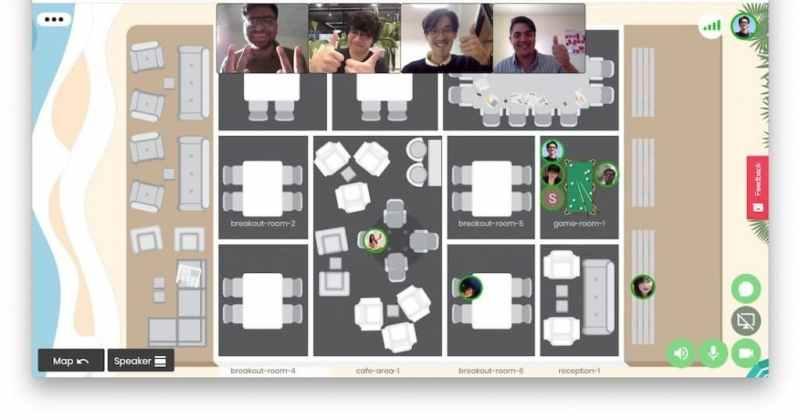 Ejemplo de oficina virtual para trabajo remoto