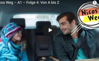 Nicos Weg – A1 – Folge 4: Von A bis Z |تعلم الالمانية صوت وصورة مع سلسلةDW المشهورة الحلقة الرابعة