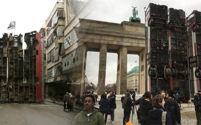 ألمانيا : حافلات الحماية من القنص في حلب ترفع أمام بوابة براندنبورغ ( فيديو )