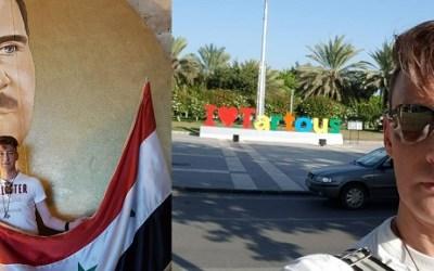 ألماني يسافر من هامبورغ إلى طرطوس و يروج لرواية نظام الأسد : أشعر بالأمان هنا أكثر من ألمانيا .. و أخجل و أحزن مما تفعله ميركل ! ( فيديو )
