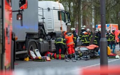 ألمانيا : شاحنة تدهس سائقة دراجة في حادثة مروعة