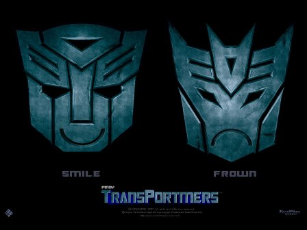 Smile Frown Transportmers