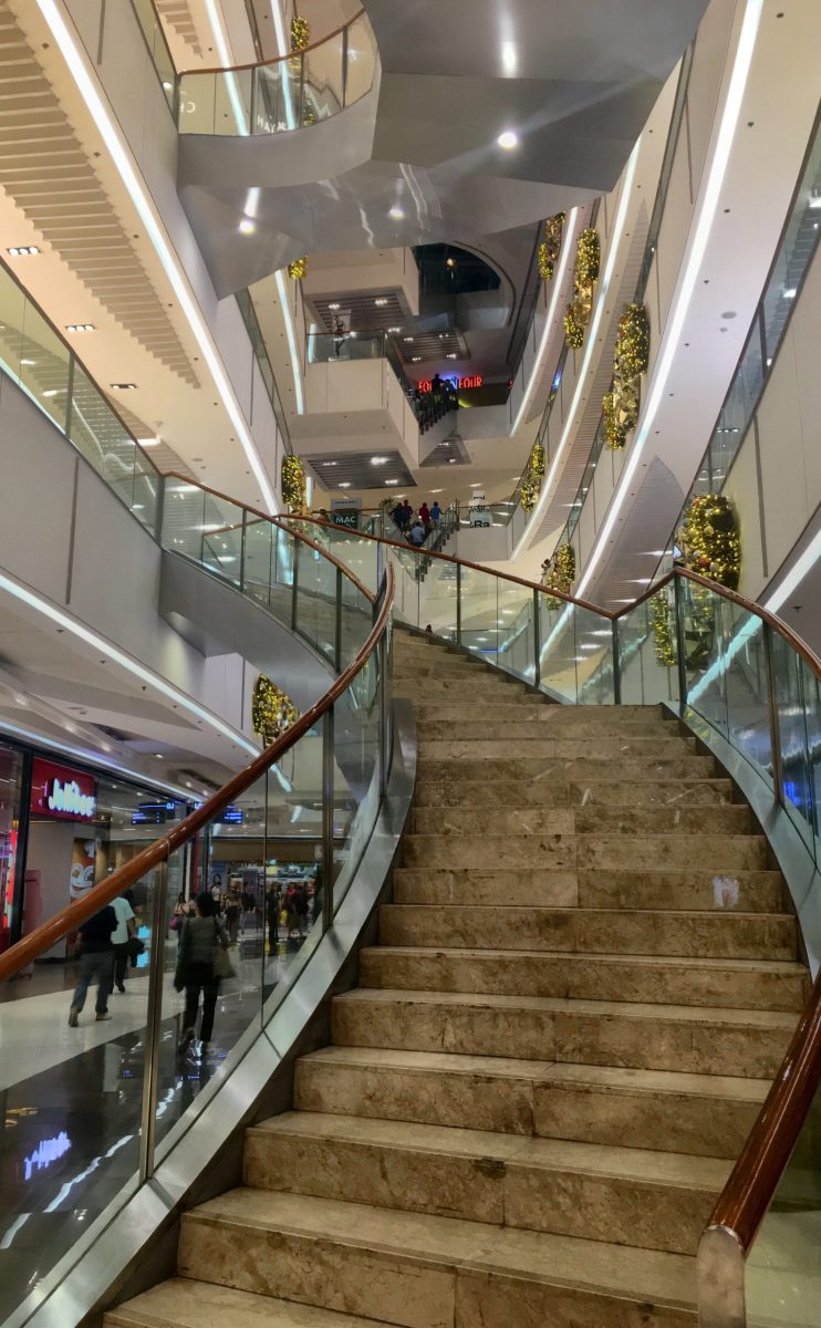 Stairs at the SM Aura Premier