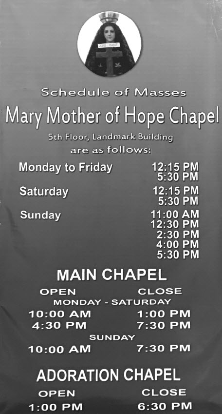 schedule-of-masses-mary-mother-of-hope-chapel