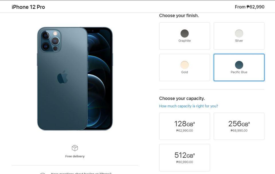 OnePlus 8 Pro Lazada price vs. iPhone 12 Pro Apple PH Store price