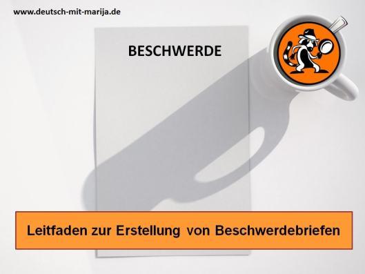 Deutsch B2 - Leitfaden zur Erstellung von Beschwerdebriefen