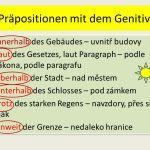 Präpositionen mit dem Genitiv
