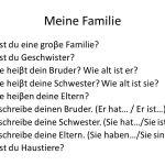 Meine Familie (Antworten Sie)