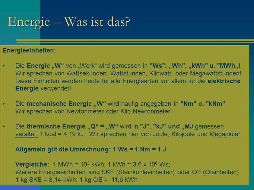 Energie -Was ist das ?