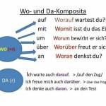 Wo und  Da- Komposita