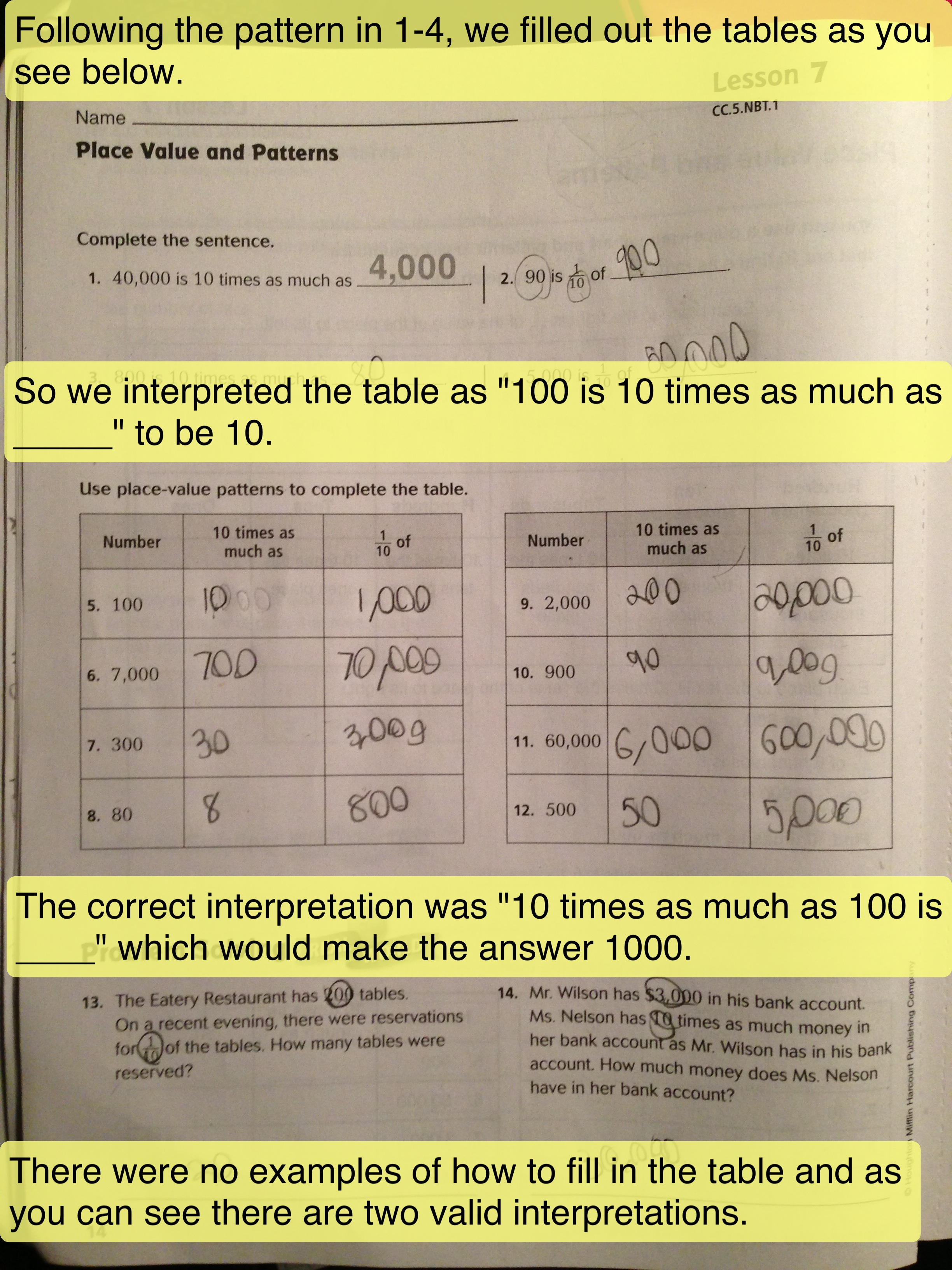 Envision Math Grade 5 Worksheet