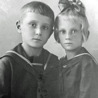 Eduard und Lydia, Kinder von Waldemar Rolloff