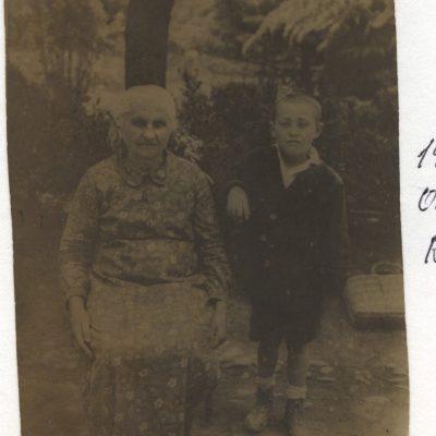 Sophie Baitinger verh. Schall und Enkel Richard Plieninger