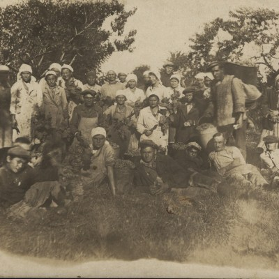 Gruppenfoto mit Ernst Plieninger und Immanuel Schall jr.