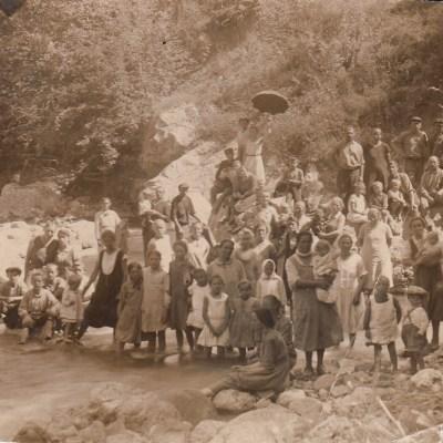 August 1932, Alexejewka, Weinbauern mit Familie