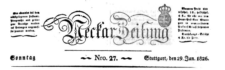 Neckar-Zeitung 1826