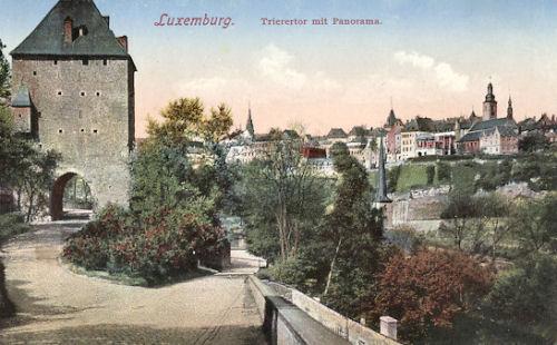 Luxemburg - Trierertor mit Panorama