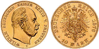10 Mark, Deutsches Reich 1876