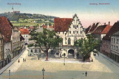 Amberg, Marktplatz, Mariahilfberg