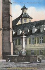 Ansbach, Brunnen des Markgrafen Wilhelm Friedrich