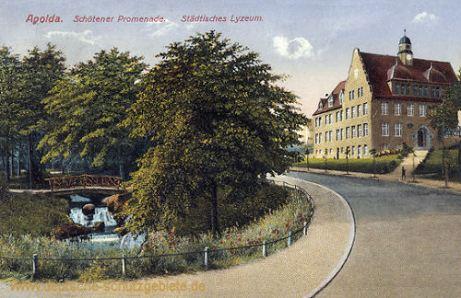 Apolda, Schötener Promenade, Städtisches Lyzeum