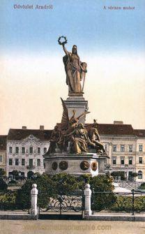 Arad, vértanú szobor (Märtyrer-Statue)