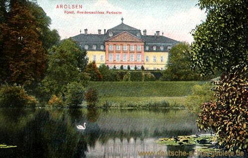 Arolsen, Fürstliches Residenzschloss, Parkseite