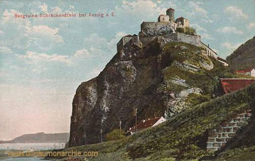 Aussig a. E., Burgruine Schreckenstein