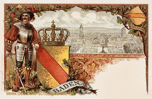Baden, Wappen - Karlsruhe