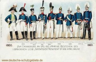 "1. Badisches Leib ""Grenadier"" Regiment No. 109 Karlsruhe"