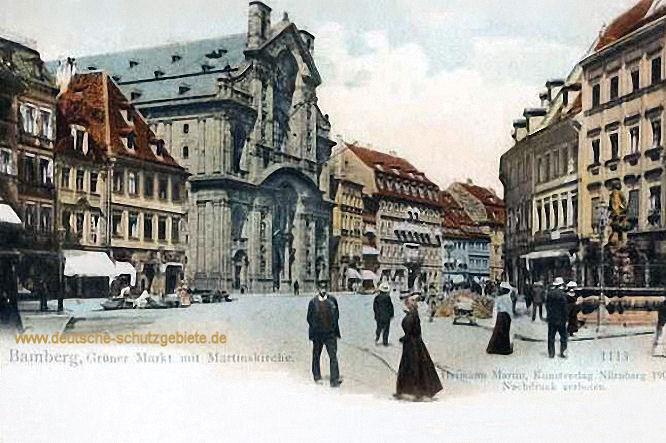Bamberg, Grüner Markt mit Martinskirche