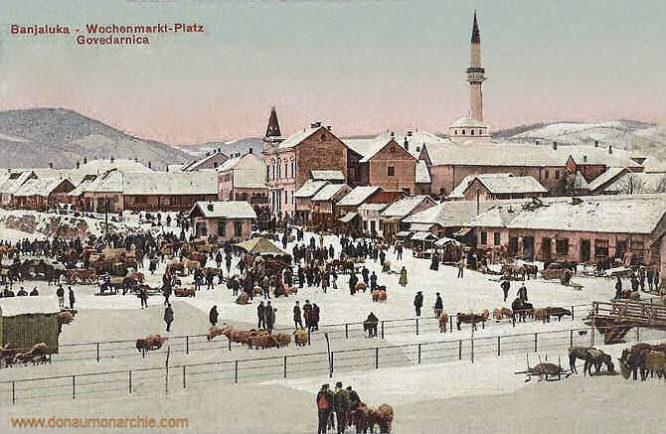 Banjaluka, Wochenmarkt-Platz