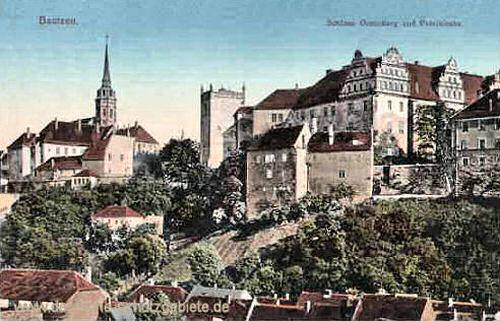 Bautzen, Schloss Ortenburg und Petrikirche