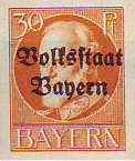 Volksstaat Bayern 1919, 30 Pfennig