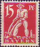Abschiedsserie 1920, 15 Pfennig