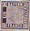 Königreich Bayern 1849, 1 Kreuzer