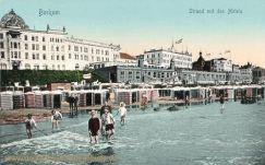 Borkum, Strand mit den Hotels