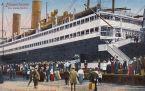 Bremerhaven, Im Kaiserhafen, Die Passagiere begeben sich an Bord