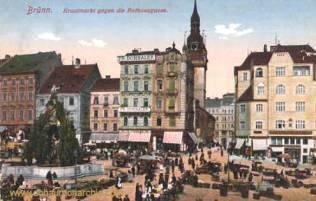 Brünn, Krautmarkt gegen die Rathausgasse