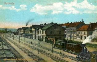 Budweis, Bahnhof