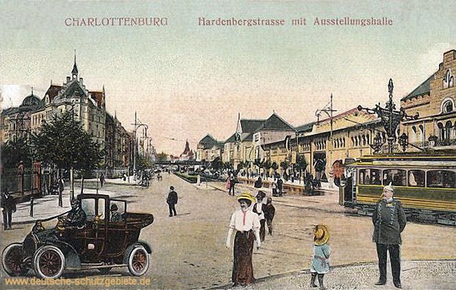 Charlottenburg, Hardenbergstraße mit Ausstellungshalle