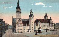 Chemnitz, (altes) Rathaus mit Denkmälern