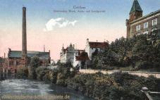 Cottbus, Elektrizitätswerk, Amts- und Landgericht
