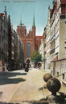 Danzig, Frauengasse und Marienkirche