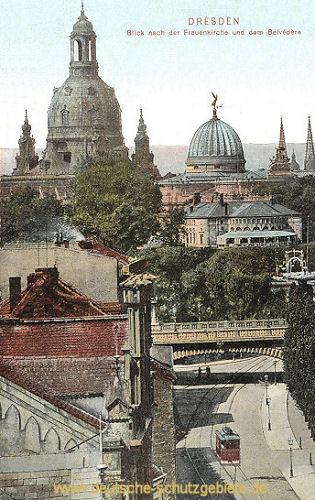 Dresden, Blick nach der Frauenkirche