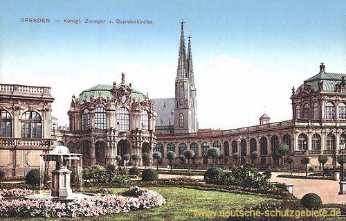 Dresden, Königlicher Zwinger und Sophienkirche