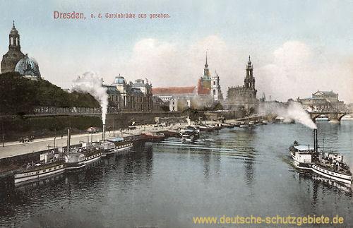Dresden von der Carolabrücke aus gesehen