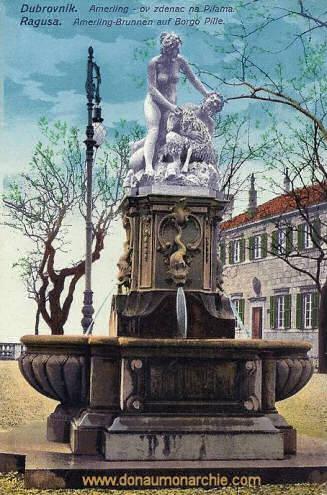 Ragusa, Amerling-Brunnen auf Bargo Pille