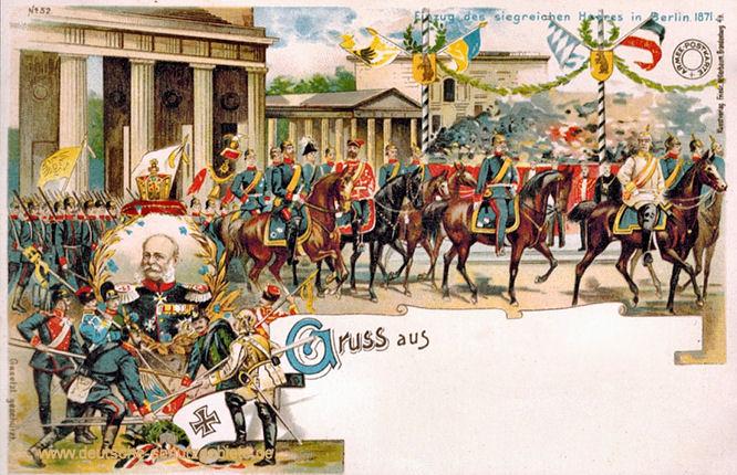Einzug des siegreichen Heeres in Berlin 1871